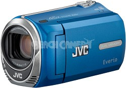 JVC Everio GZ-MS230A Camcorder w/ 8GB Built-in Flash Memory & SD/SDHC Card Slot Blue