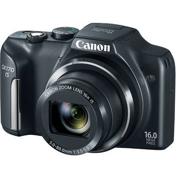 Canon Power Shot SX170 IS Point-and-Shoot Camera