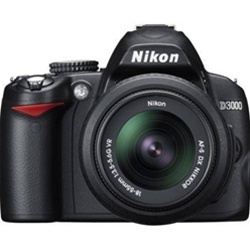Nikon D3000 10.2 MP DX Digital SLR Camera - Body
