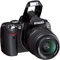 Nikon D40 6.1 Megapixel Digital SLR Camera 3X Zoom Kit Outfit, with 18-55mm f/3.5-5.6G ED II AF-S DX Zoom Nikkor Lens