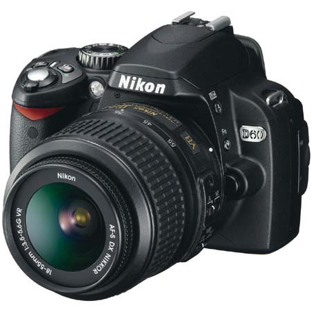 Nikon D60 10.2 Megapixel Digital SLR Camera Outfit , with 18-55mm f/3.5-5.6G ED AF-S DX VR Zoom Nikkor Lens