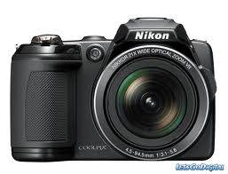 Nikon Coolpix L120 Digital Camera with 14.1 Megapixels, 21x Optical Zoom- Black