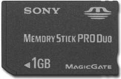 1GB Professional High-Speed Memory Stick PRO Duo
