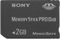 2GB Professional High-Speed Memory Stick PRO Duo