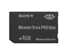 4GB Professional High-Speed Memory Stick PRO Duo