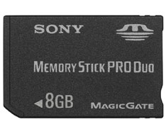 8GB Professional High-Speed Memory Stick PRO Duo