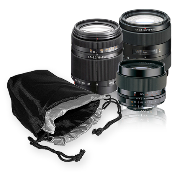 Deluxe Lens Pouch For SLR Lenses