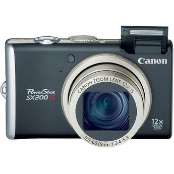Canon PowerShot SX200 IS Digital Camera (Black)