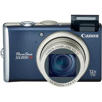 Canon PowerShot SX200 IS Digital Camera (Blue)