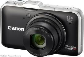 Canon Powershot SX230 HS Digital Camera 12.1 MP - Black