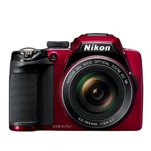 Nikon Coolpix P500 DigitalCamerawith12.1Megapixels, 36xOpticalZoom-Red