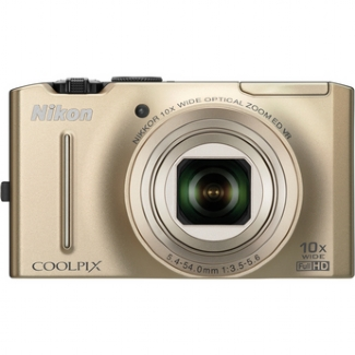 Nikon Coolpix S8100 12.1MP Digital Camera (Gold)