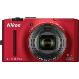 Nikon Coolpix S8100 12.1MP Digital Camera (Red)