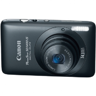 Canon PowerShot SD1400-IS, 14.1 Megapixel, 4x Optical/4x Digital Zoom, Digital Camera (Black)