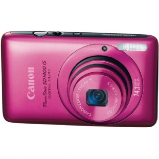 Canon PowerShot SD1400-IS, 14.1 Megapixel, 4x Optical/4x Digital Zoom, Digital Camera (Red)