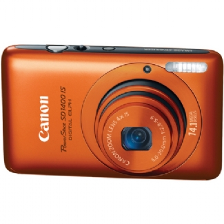 Canon PowerShot SD1400-IS, 14.1 Megapixel, 4x Optical/4x Digital Zoom, Digital Camera (Orange)